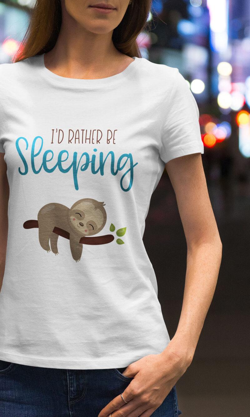 Women's T-shirt Funny W 014