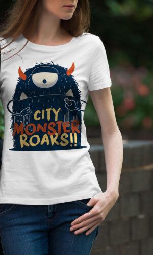 Women's T-shirt Funny W 029