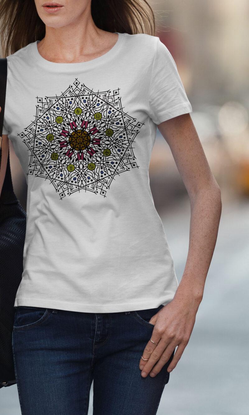 Women's T-shirt Mandala W 015