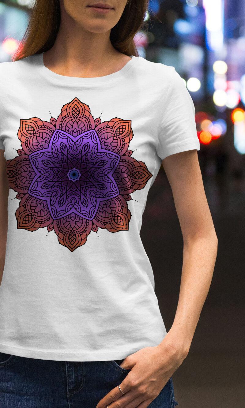 Women's T-shirt Mandala W 019