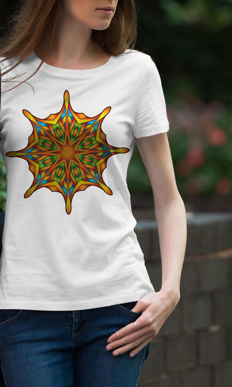 Women's T-shirt Mandala W 003