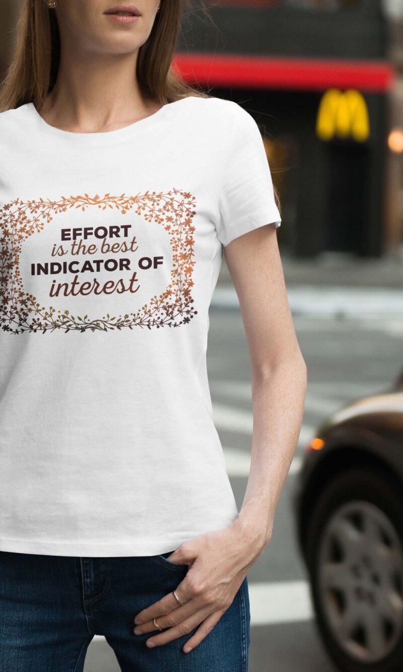 Women's T-shirt Sentence W 007
