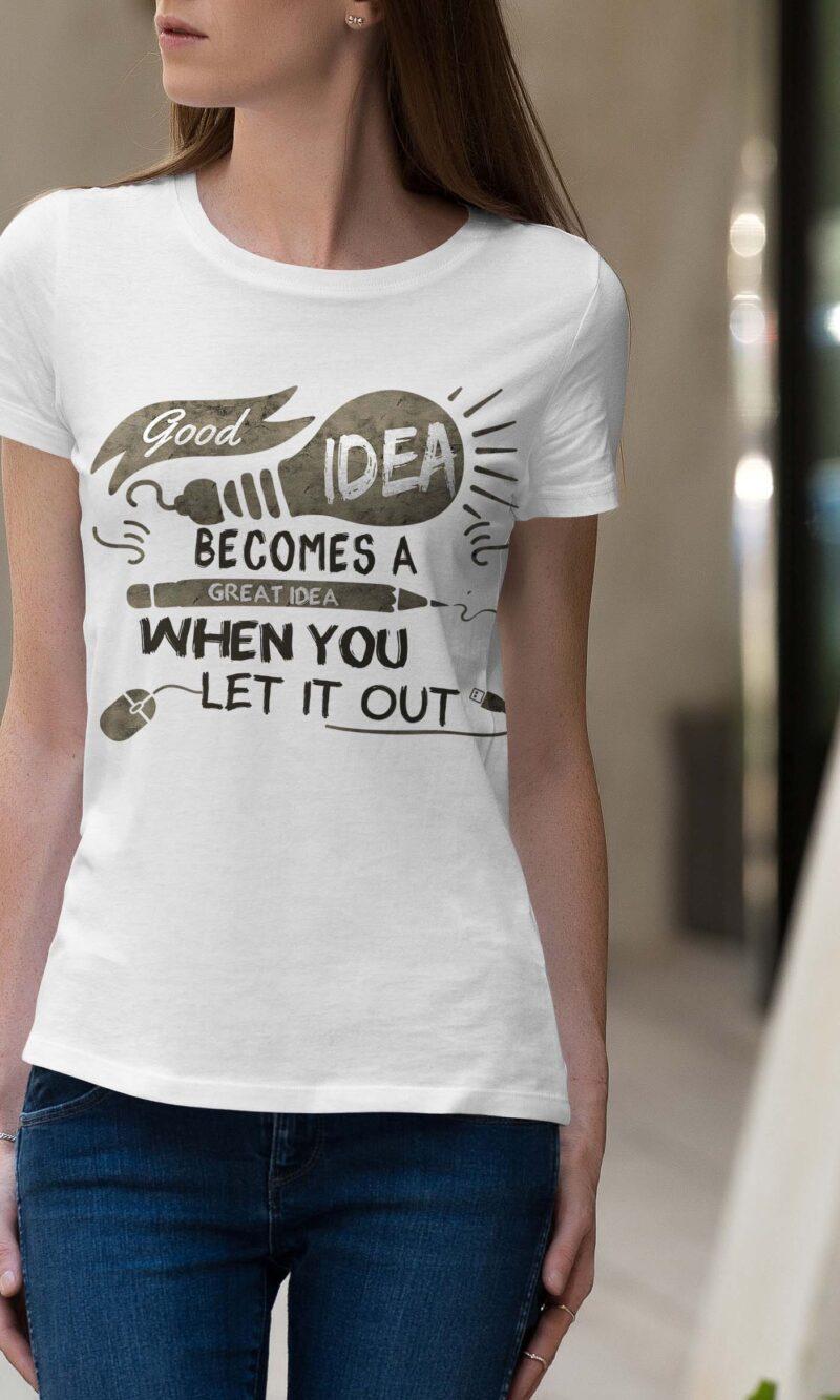 Women's T-shirt Sentence W 019